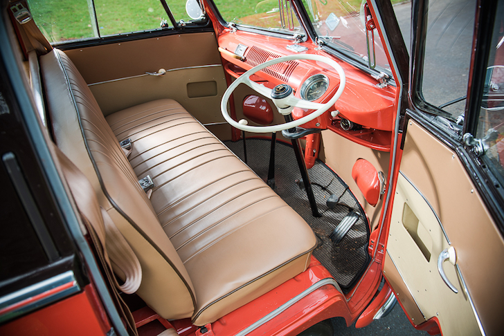 Driver compartment on 1955 Microbus