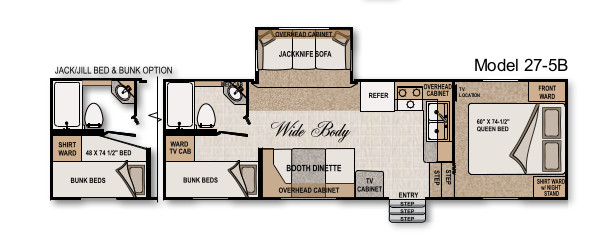 Floorplan in our trailer