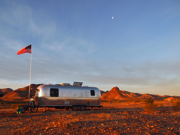 Free Camping at Dome Rock in Quartzsite, AZ