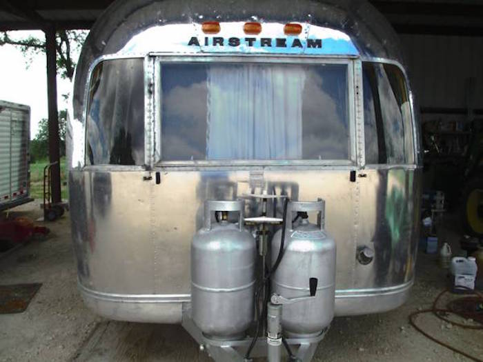 Front of an Airstream Overlander