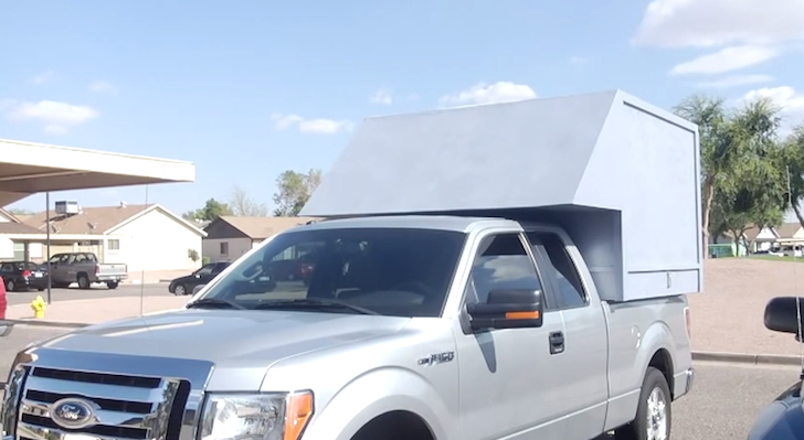 Homemade truck camper on Ford F-150