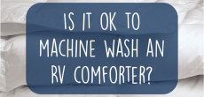 Can You Machine Wash The Comforter That Comes With Your RV?