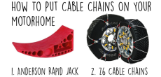 How to put cable chains on your motorhome