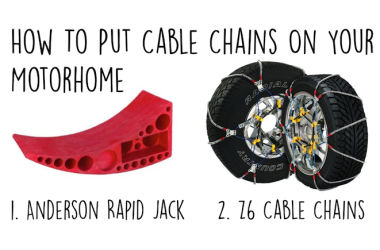 How To Put Cable Chains On A Class C Motorhome The Easy Way