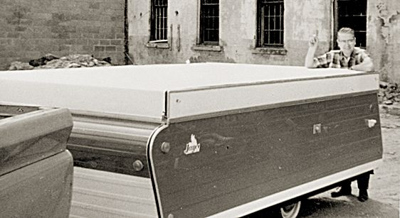 Jayco Trailers founder with trailer