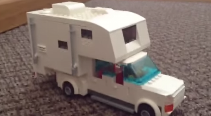 Highly Detailed And Lifelike Truck Camper Made From LEGOs