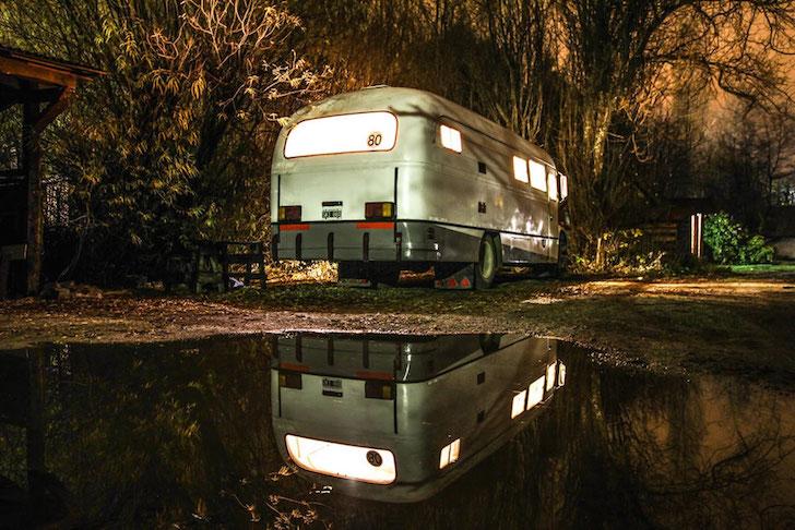 La Chanchita at night