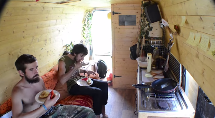 Living in a van time lapse