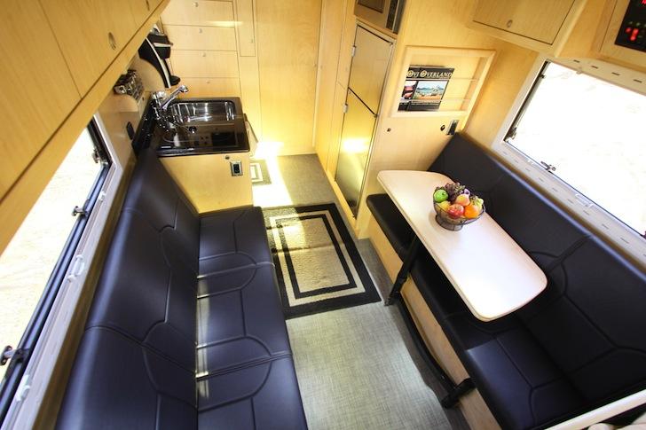 Living space inside an EarthRoamer XV-LTS