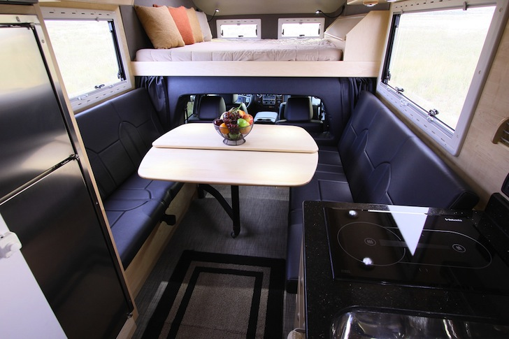 Looking toward the front of an XV-LTS truck camper