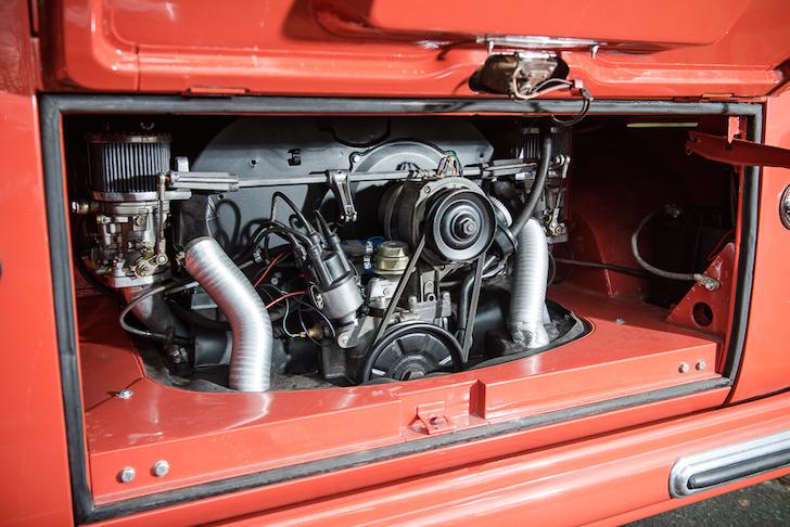 Original engine in a vintage VW Microbus