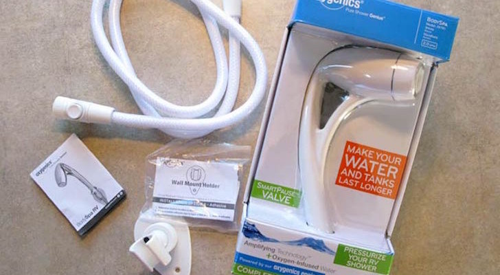 This Oxygenics Showerhead Should Be A Standard RV Feature