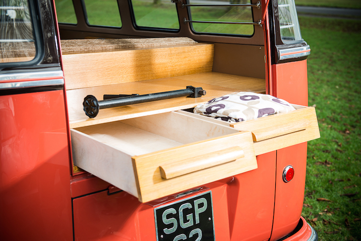 Pull out storage compartments on VW