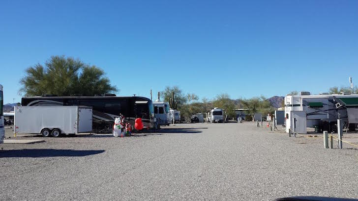 RV near Quartzsite