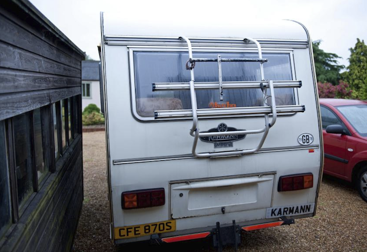 Rear of the camper