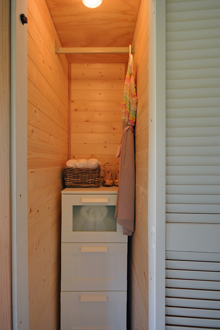 Storage area in tiny house