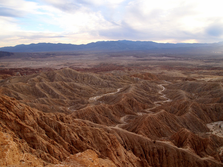 The Badlands in Anza Borrego State Park