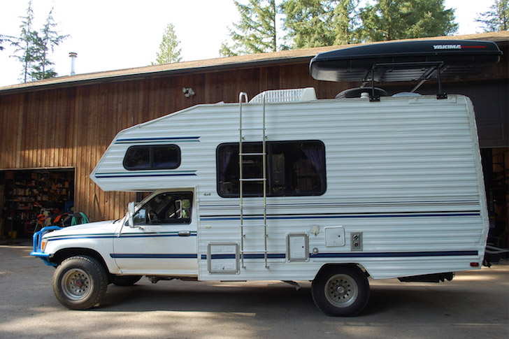 This is his 4x4 Toyta motorhome