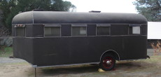 Vintage 1936 Travel Coach DeLuxe Trailer That's Been Stored Inside Her Entire Life