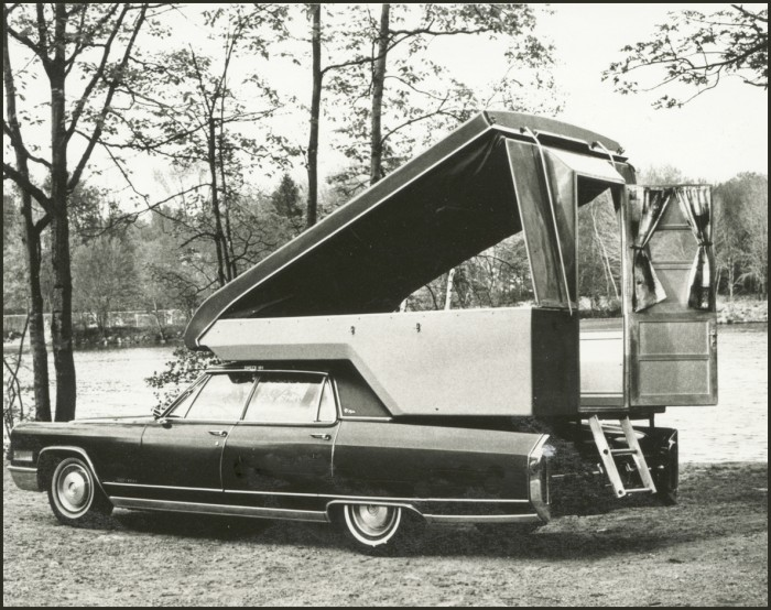 Homemade Pop Up Camper On A Vintage Cadillac