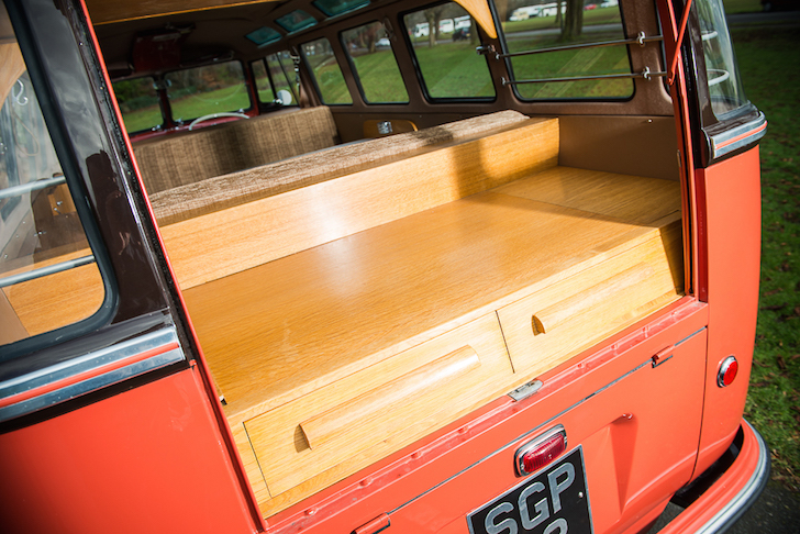 Wooden rear storage compartments