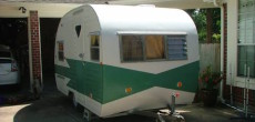 refurbished vintage trailer