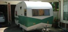 refurbished vintage trailer