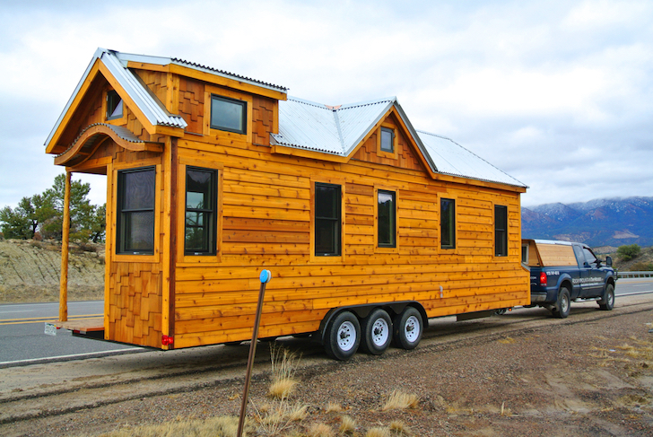Tiny Home Designs: 30 Foot Trailer House With Two Lofts Made For Family In Texas