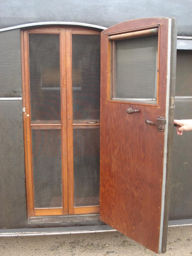All original wood door