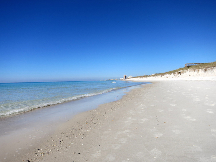 Beach at St Andrews State Park
