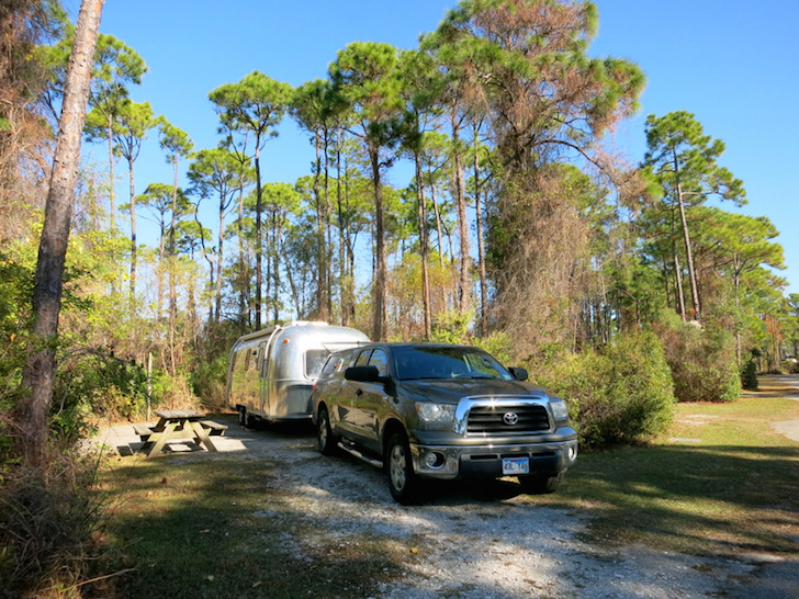 Campsite at St George Island State Park