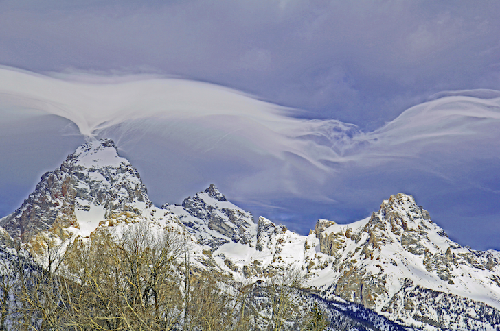 Cloud dance over Grand Teton