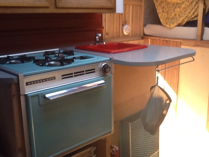 Cooktop inside the mini RV