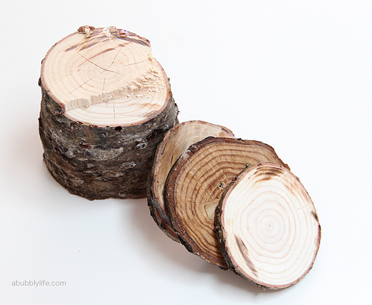 Cutting the log into thin slices