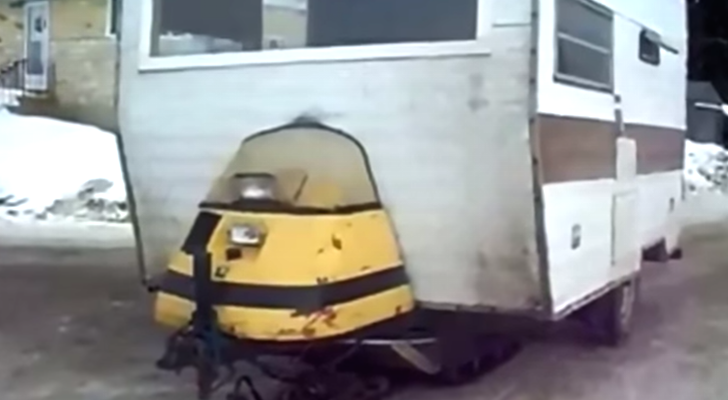 The DIY Snowmobile Camper These Canadians Made Is Out Of This World
