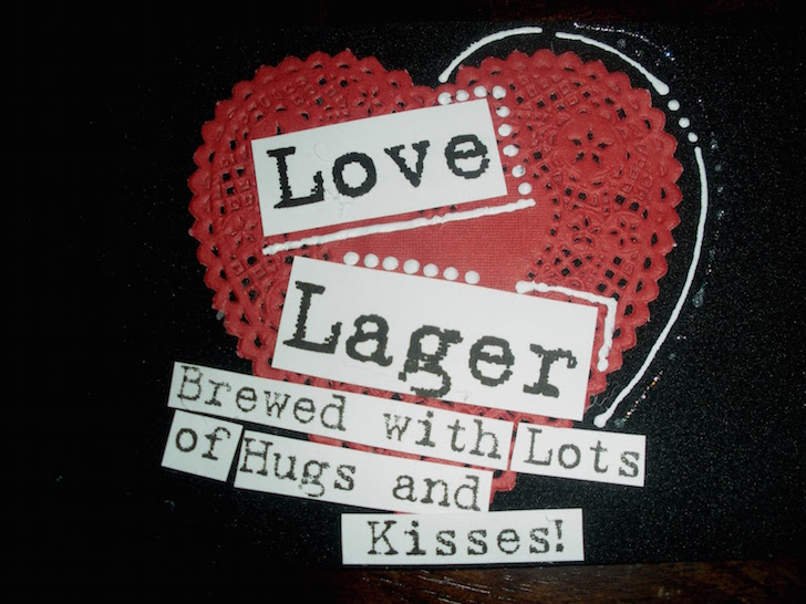 It is a photo of Amazing Free Printable Valentine Beer Labels