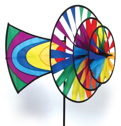 Directional pinwheel wind spinner