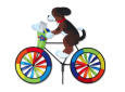 Dog on bike wind spinner