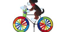 Dog on bike wind spinner