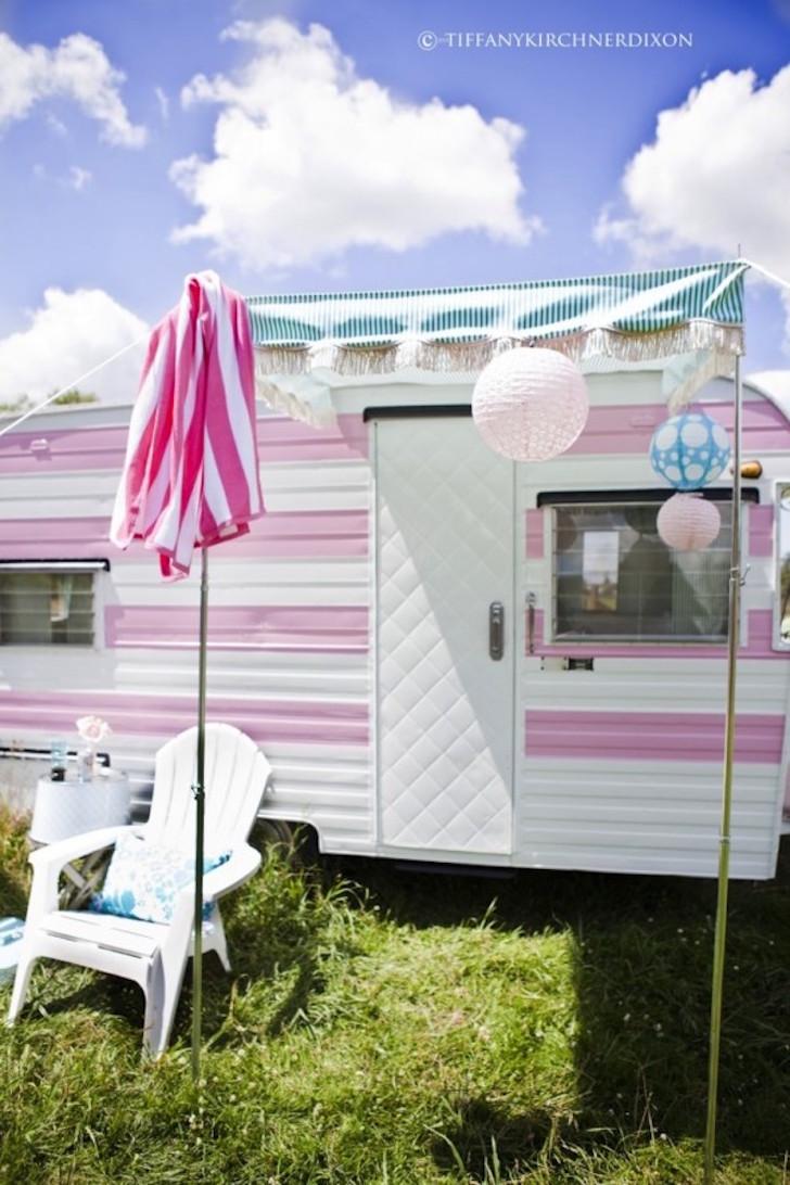 Exterior of glamour camper