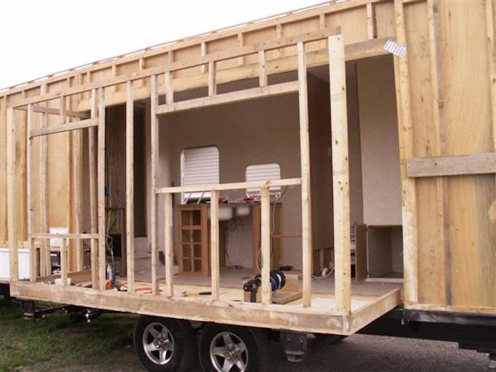 how this man built his own diy rv slide out framing an rv slide out