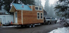 Hamptons Cabin tiny house on wheels