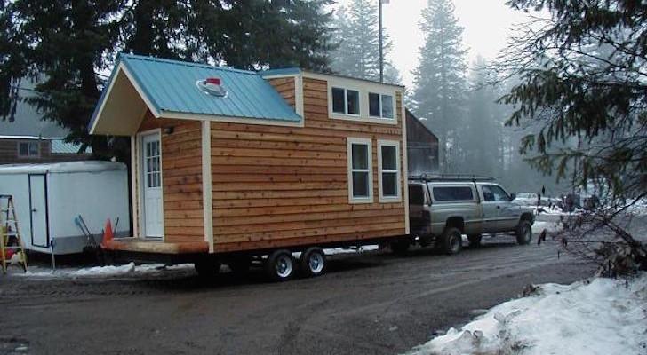 Hamptons Cabin tiny house on wheels