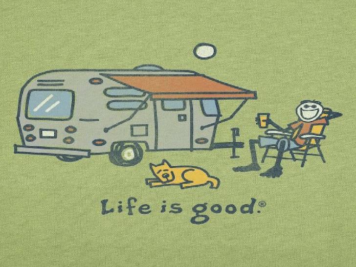 Happy camper life is good