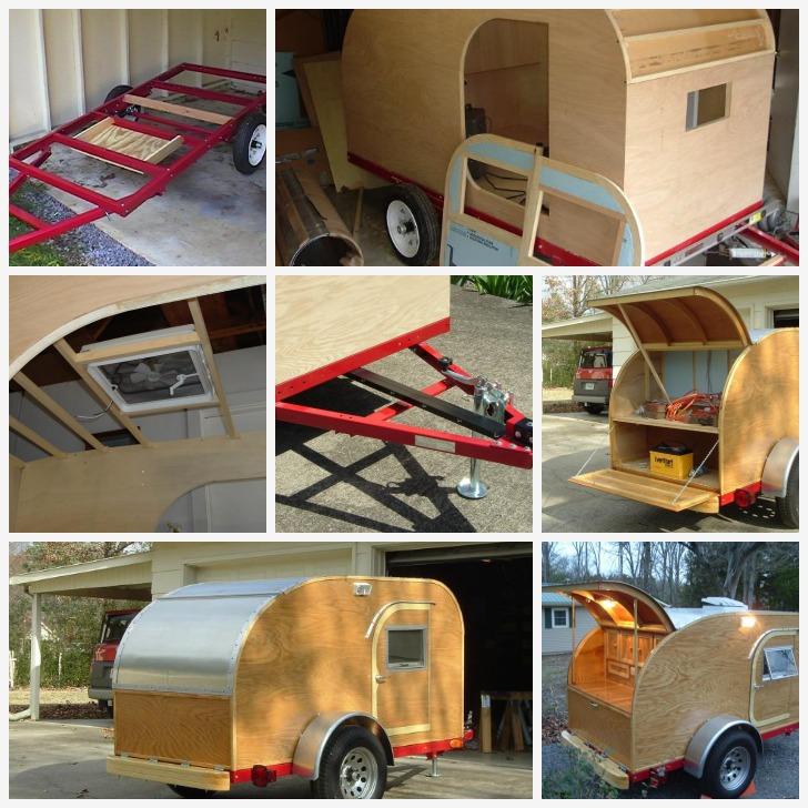 Homebuilt teardrop camper