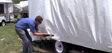 How to apply shrink wrap to an RV
