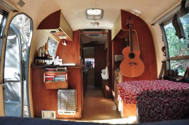 Inside a 1968 Airstream trailer for sale