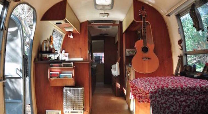 1968 Airstream Ambassador 28′ Trailer With A Funny Kitchen Sign