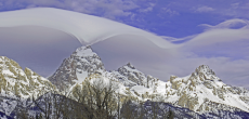 Strange And Rare Lenticular Clouds Form Over The Summit Of Grand Teton