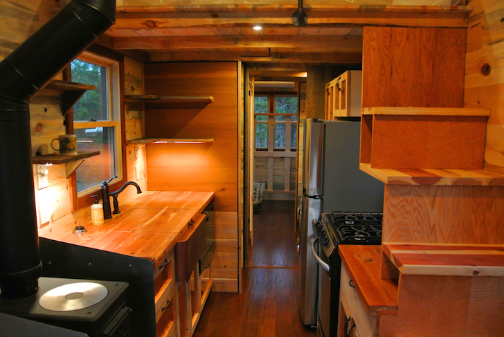 Main living area of a tiny mobile home
